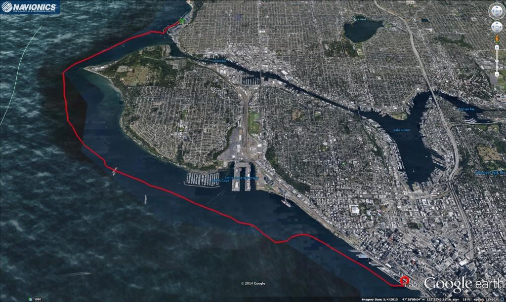 Shilshole to Elliott Bay Google